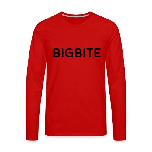 BIGBITE logo red (USE) - Men's Premium Long Sleeve T-Shirt