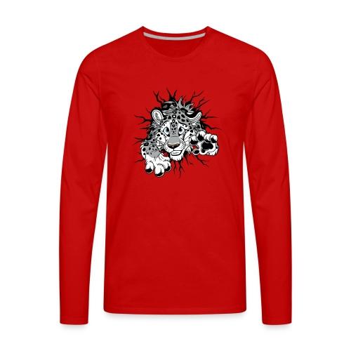 STUCK Snow Leopard (double-sided) - Men's Premium Long Sleeve T-Shirt