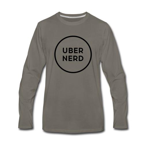 uber nerd logo - Men's Premium Long Sleeve T-Shirt