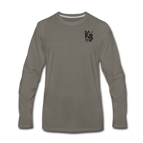 Kure Beach Day-Black Lettering-Front and Back - Men's Premium Long Sleeve T-Shirt