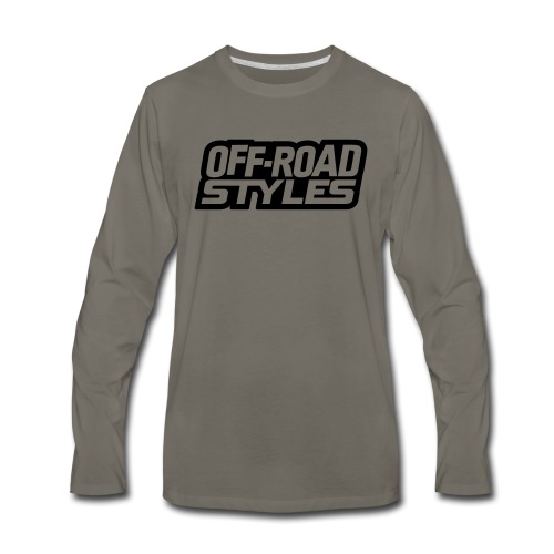 Snowmobile Warning - Men's Premium Long Sleeve T-Shirt