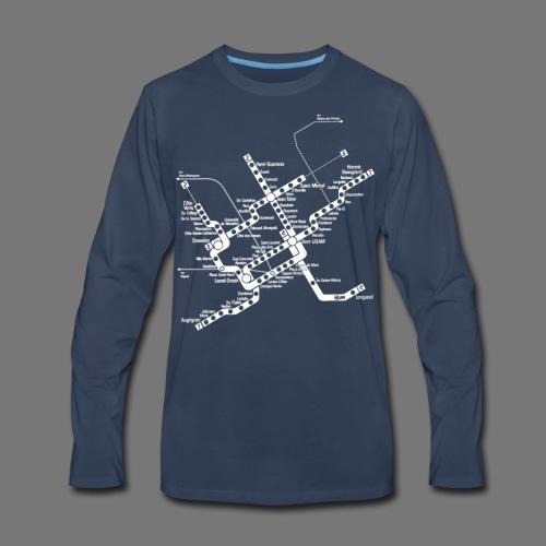 METRO Map - Men's Premium Long Sleeve T-Shirt