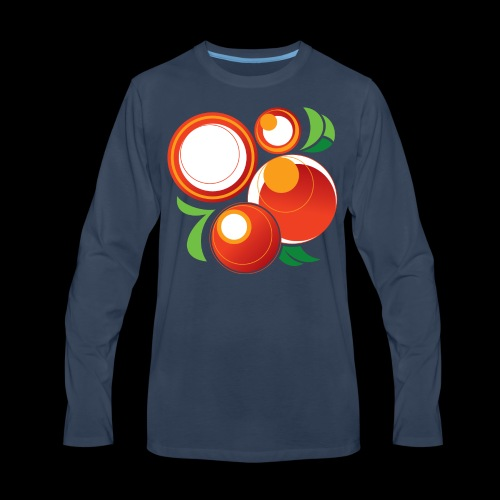 Abstract Oranges - Men's Premium Long Sleeve T-Shirt