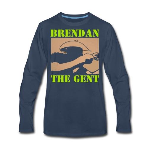 Brendan The Gent logo - Men's Premium Long Sleeve T-Shirt