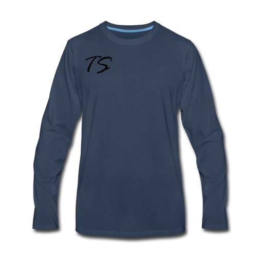 TS Logo Black - Men's Premium Long Sleeve T-Shirt