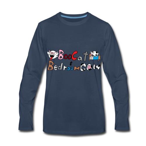Boo Cat And Bedroom Cow - Men's Premium Long Sleeve T-Shirt