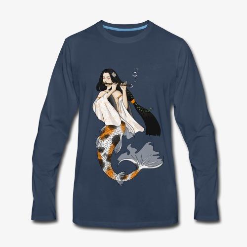 Koi Fish Mermaid - Men's Premium Long Sleeve T-Shirt