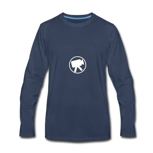 logo_wit_videotijd - Men's Premium Long Sleeve T-Shirt