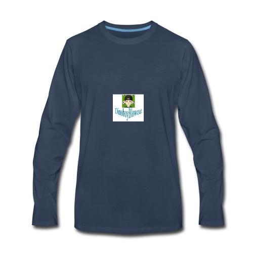 Dinoboy Blowout Logo - Men's Premium Long Sleeve T-Shirt