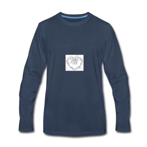 rose heart - Men's Premium Long Sleeve T-Shirt