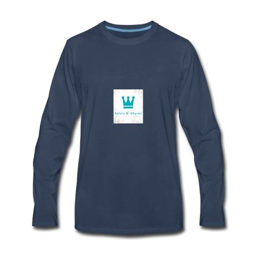 Back Ground Sparks on Blue Classic - Men's Premium Long Sleeve T-Shirt