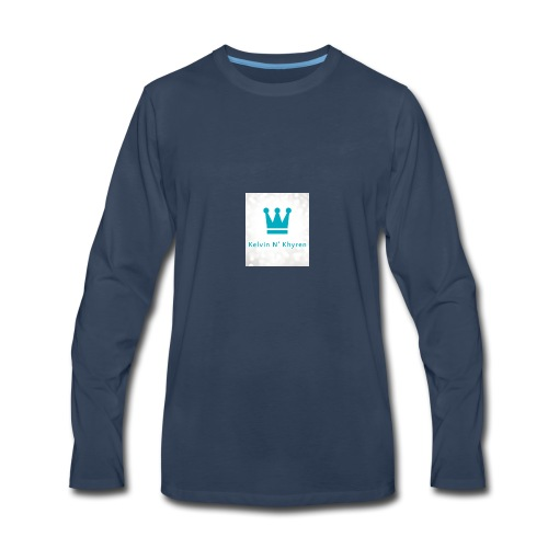Back Ground Sparks on Blue Classic - Men's Premium Long Sleeve T-Shirt