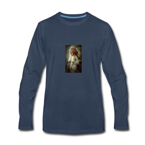 61275d5951616afcecbe922eb2a98b12 native american - Men's Premium Long Sleeve T-Shirt