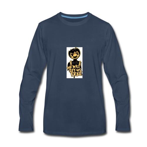 Bendy Merch (SUB FOR MY YT CHANNEL!) - Men's Premium Long Sleeve T-Shirt