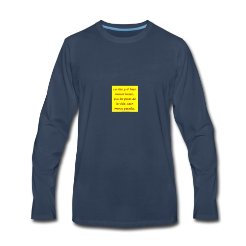 frases lindas risa y buen humor - Men's Premium Long Sleeve T-Shirt