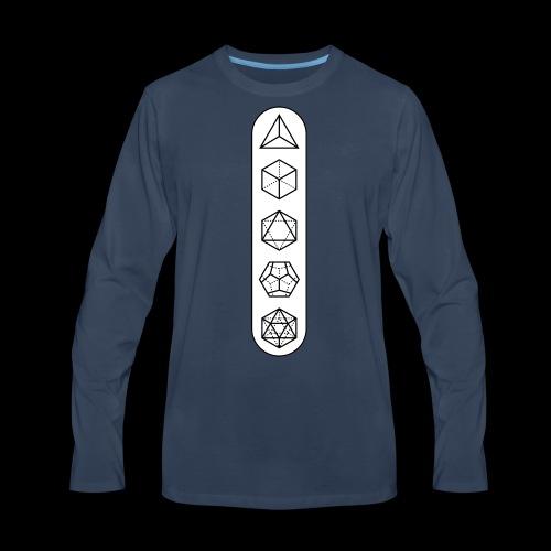 platonic-white-bg - Men's Premium Long Sleeve T-Shirt