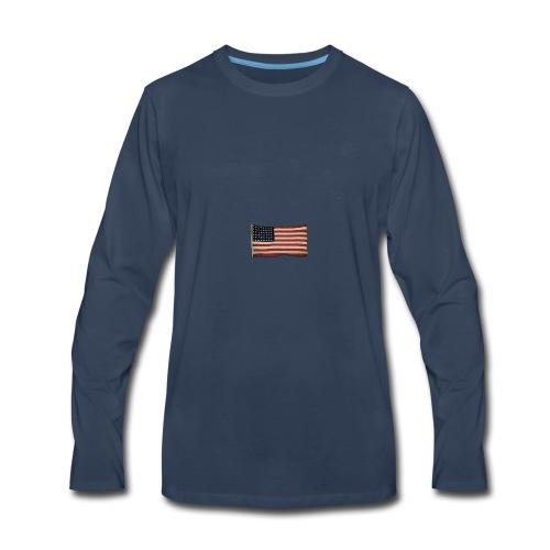 WWII Era Garrison Flag - Men's Premium Long Sleeve T-Shirt