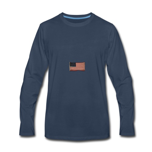 WWII Era Garrison Flag - Men's Premium Long Sleeve T-Shirt