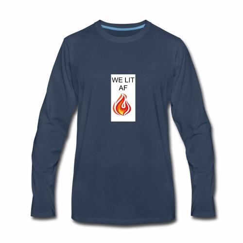 WE LIT AF BRAND - Men's Premium Long Sleeve T-Shirt