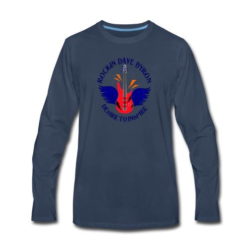 Rockin Dave Byron Logo - Men's Premium Long Sleeve T-Shirt