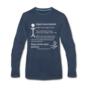 Ask Simple Questions - Men's Premium Long Sleeve T-Shirt