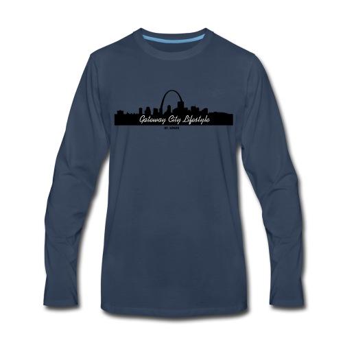 Gateway City Lifestyle Skyline Logo - Men's Premium Long Sleeve T-Shirt