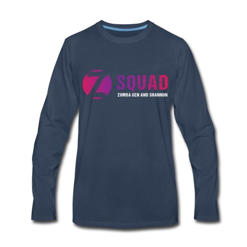 Z SQUAD LogoWHITE - Men's Premium Long Sleeve T-Shirt