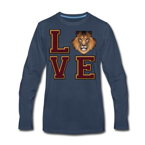 Lion Love Maroon Box - Men's Premium Long Sleeve T-Shirt