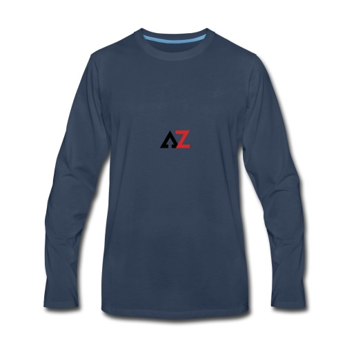 AZ Management logo - Men's Premium Long Sleeve T-Shirt
