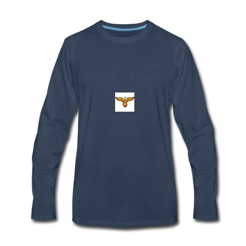 p4979 flaming eagle lg 1 - Men's Premium Long Sleeve T-Shirt