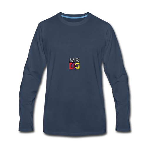 MS DOS Prompt logo - Men's Premium Long Sleeve T-Shirt