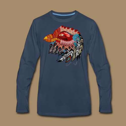 Eagle Tribal Animal Spirit Totem - Men's Premium Long Sleeve T-Shirt
