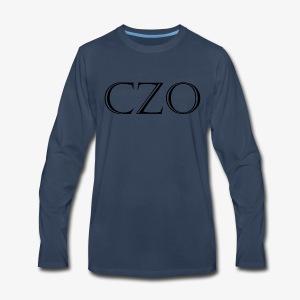CoverZero CZO StoneScript - Men's Premium Long Sleeve T-Shirt