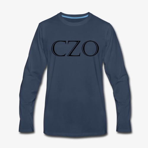 CoverZero CZO StoneScript - Men's Premium Long Sleeve T-Shirt