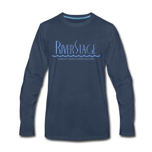 RiverStage Color Logo in Spa Blue - Men's Premium Long Sleeve T-Shirt