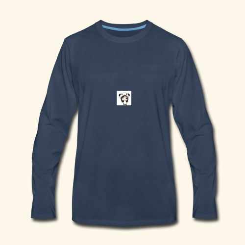 panda girl - Men's Premium Long Sleeve T-Shirt