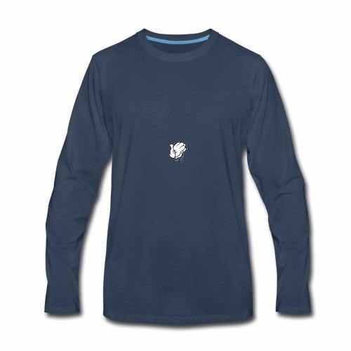 M79 MICKEY Hands Praying 197x250 - Men's Premium Long Sleeve T-Shirt