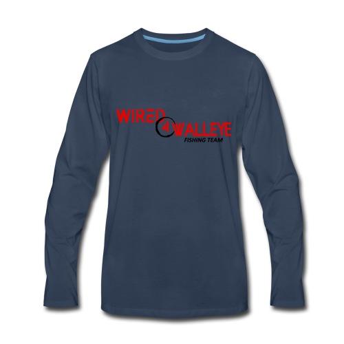 RED on BLACK - Men's Premium Long Sleeve T-Shirt