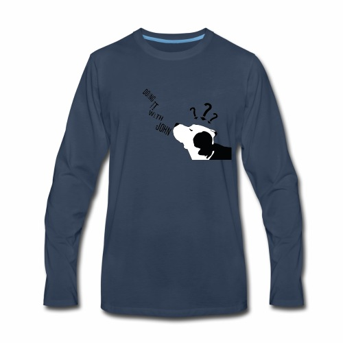 Doing it with john Logo - Men's Premium Long Sleeve T-Shirt
