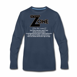 in the zone definition 3 - Men's Premium Long Sleeve T-Shirt