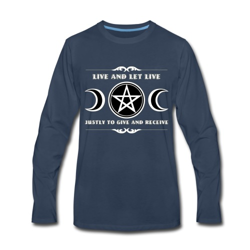 Live and let live Wicca law - Men's Premium Long Sleeve T-Shirt
