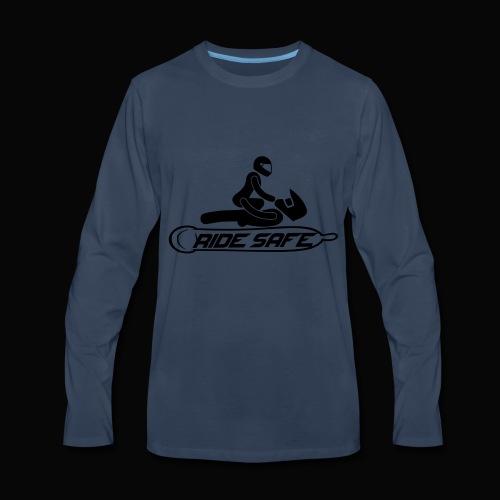 ride safe black - Men's Premium Long Sleeve T-Shirt