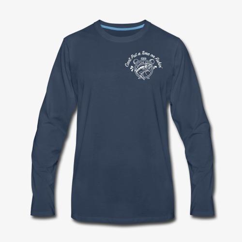 White Logo -- Clock and Fish - Men's Premium Long Sleeve T-Shirt