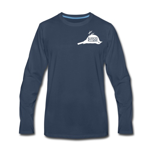 Bluebird Logo - Men's Premium Long Sleeve T-Shirt