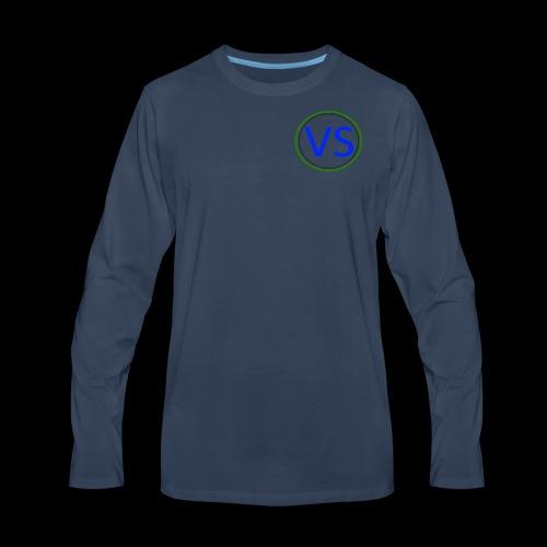 VS Logo - Men's Premium Long Sleeve T-Shirt