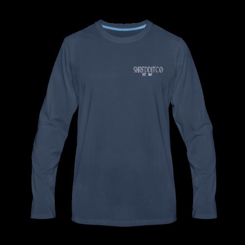 Shredditco Logo - Men's Premium Long Sleeve T-Shirt