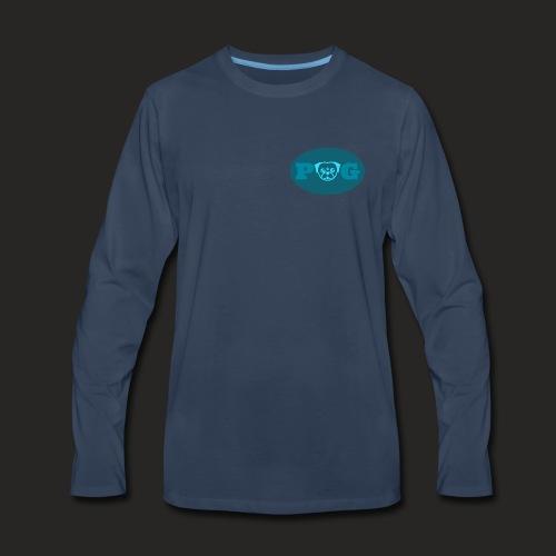 Pugg Clothing Shirt (Blue) - Men's Premium Long Sleeve T-Shirt