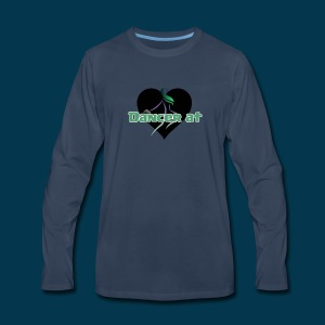 Dancer At Heart (Black Heart) - Men's Premium Long Sleeve T-Shirt