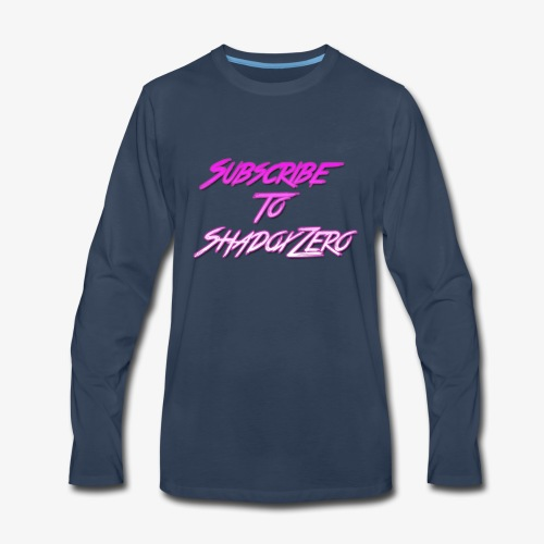 Subscribe To ShadoxZero - Men's Premium Long Sleeve T-Shirt