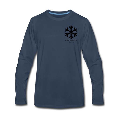 cold editors-frozen - Men's Premium Long Sleeve T-Shirt